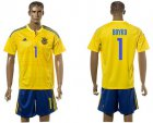 Cheap Ukraine #1 Boyko Home Soccer Country Jersey