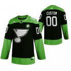 Cheap St. Louis Blues Custom Men's Adidas Green Hockey Fight nCoV Limited NHL Jersey