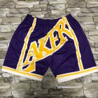 Cheap Men's Los Angeles Lakers Purple Big Face Mitchell Ness Hardwood Classics Soul Swingman Throwback Shorts