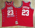 Cheap NBA 1989 All-Star #23 Michael Jordan Red Hardwood Classics Soul AU Throwback Jersey