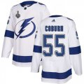 Cheap Adidas Lightning #55 Braydon Coburn White Road Authentic 2020 Stanley Cup Final Stitched NHL Jersey