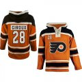 Cheap Flyers #28 Claude Giroux Orange Sawyer Hooded Sweatshirt Stitched NHL Jersey