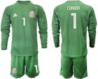 Cheap Mexico #1 Corona Green Long Sleeves Goalkeeper Soccer Country Jersey