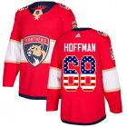 Cheap Adidas Panthers #68 Mike Hoffman Red Home Authentic USA Flag Stitched Youth NHL Jersey