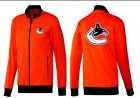 Cheap NHL Vancouver Canucks Zip Jackets Orange
