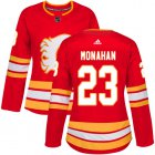 Cheap Adidas Flames #23 Sean Monahan Red Alternate Authentic Women's Stitched NHL Jersey