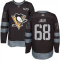 Cheap Adidas Penguins #68 Jaromir Jagr Black 1917-2017 100th Anniversary Stitched NHL Jersey