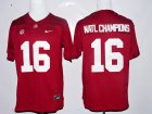 Cheap Men's Alabama Crimson Tide 2016 Natl Champions Red Stitched NCAA Nike Limited College Football Jersey