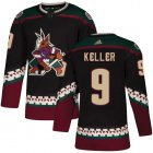 Cheap Adidas Coyotes #9 Clayton Keller Black Alternate Authentic Stitched Youth NHL Jersey