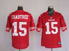 Cheap 49ers Michael Crabtree #15 Stitched Red NFL Jersey