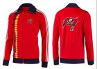 Cheap NFL Tampa Bay Buccaneers Team Logo Jacket Red_2
