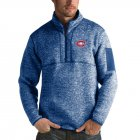 Cheap Montreal Canadiens Antigua Fortune Quarter-Zip Pullover Jacket Blue