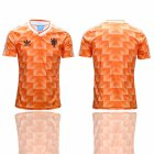 Cheap Holland Blank Orange Throwback Soccer Country Jersey