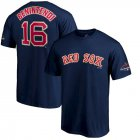 Cheap Boston Red Sox #16 Andrew Benintendi Majestic 2019 Gold Program Name & Number T-Shirt Navy