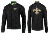 Cheap NFL New Orleans Saints Team Logo Jacket Black_4
