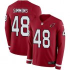 Cheap Nike Cardinals #48 Isaiah Simmons Red Team Color Youth Stitched NFL Limited Therma Long Sleeve Jersey