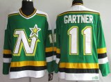 Cheap Stars #11 Mike Gartner Stitched Green CCM Throwback NHL Jersey