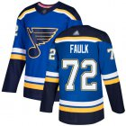 Cheap Adidas Blues #72 Justin Faulk Blue Home Authentic Stitched NHL Jersey