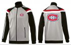 Cheap NHL Montreal Canadiens Zip Jackets Grey