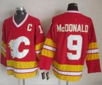 Cheap Flames #9 Lanny McDonald Red CCM Throwback Stitched NHL Jersey