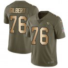 Cheap Nike Cardinals #76 Marcus Gilbert Olive/Gold Youth Stitched NFL Limited 2017 Salute To Service Jersey