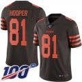 Cheap Nike Browns #81 Austin Hooper Brown Men's Stitched NFL Limited Rush 100th Season Jersey