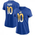 Cheap Los Angeles Rams #10 Cooper Kupp Nike Women's Team Player Name & Number T-Shirt Royal