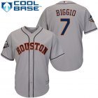 Cheap Astros #7 Craig Biggio Grey Cool Base 2019 World Series Bound Stitched Youth MLB Jersey