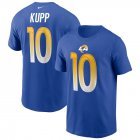 Cheap Los Angeles Rams #10 Cooper Kupp Nike Team Player Name & Number T-Shirt Royal