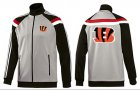 Cheap NFL Cincinnati Bengals Team Logo Jacket Grey