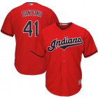 Cheap Indians #41 Carlos Santana Red New Cool Base Stitched MLB Jersey