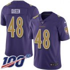 Cheap Nike Ravens #48 Patrick Queen Purple Youth Stitched NFL Limited Rush 100th Season Jersey