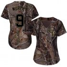 Cheap Rockies #9 Daniel Murphy Camo Realtree Collection Cool Base Women's Stitched MLB Jersey