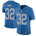 Cheap Nike Lions #32 D'Andre Swift Blue Throwback Men's Stitched NFL Vapor Untouchable Limited Jersey