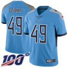 Cheap Nike Titans #49 Nick Dzubnar Light Blue Alternate Youth Stitched NFL 100th Season Vapor Untouchable Limited Jersey