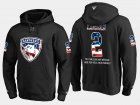 Cheap Panthers #2 Terry Carkner NHL Banner Wave Usa Flag Black Hoodie