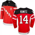 Cheap Olympic CA. #14 Chris Kunitz Red 100th Anniversary Stitched NHL Jersey