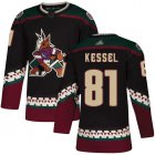 Cheap Adidas Coyotes #81 Phil Kessel Black Alternate Authentic Stitched NHL Jersey
