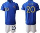 Cheap France #20 Thauvin 100th Anniversary Edition Soccer Country Jersey
