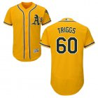 Cheap Athletics #60 Andrew Triggs Gold Flexbase Authentic Collection Stitched MLB Jersey