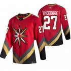 Cheap Vegas Golden Knights #27 Shea Theodore Red Men's Adidas 2020-21 Reverse Retro Alternate NHL Jersey