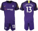 Cheap Chelsea #13 Caballero Purple Goalkeeper Soccer Club Jersey