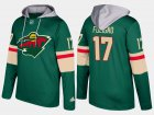Cheap Wild #17 Marcus Foligno Green Name And Number Hoodie