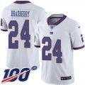 Cheap Nike Giants #24 James Bradberry White Youth Stitched NFL Limited Rush 100th Season Jersey
