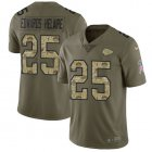 Cheap Nike Chiefs #25 Clyde Edwards-Helaire Olive/Camo Youth Stitched NFL Limited 2017 Salute To Service Jersey