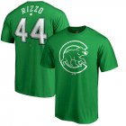 Cheap Chicago Cubs #44 Anthony Rizzo Majestic St. Patrick's Day Stack Player Name & Number T-Shirt Kelly Green