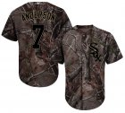 Cheap White Sox #7 Tim Anderson Camo Realtree Collection Cool Base Stitched Youth MLB Jersey