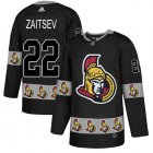 Cheap Adidas Senators #22 Nikita Zaitsev Black Authentic Team Logo Fashion Stitched NHL Jersey