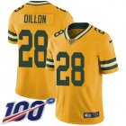 Cheap Nike Packers #28 AJ Dillon Yellow Youth Stitched NFL Limited Rush 100th Season Jersey
