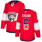 Cheap Adidas Panthers #6 Anton Stralman Red Home Authentic USA Flag Stitched NHL Jersey
